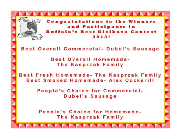 Buffalo's Best Kielbasa Contest Results